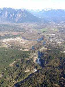 Snoqualmie Falls and Mount Si