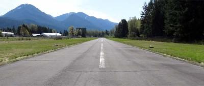 Packwood airport runway 19